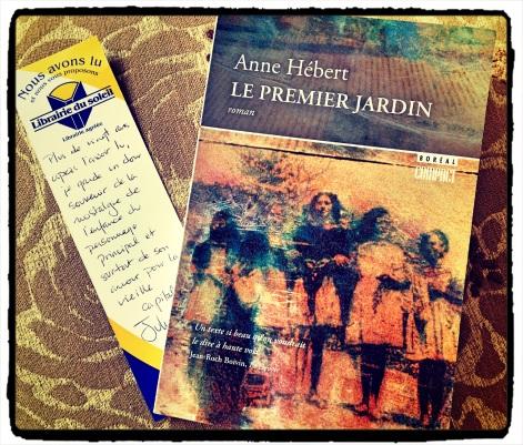 Le premier jardin Anne Hébert