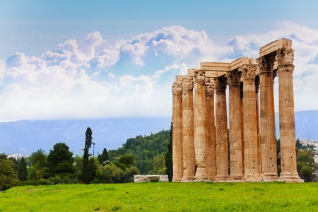 42121432 - beautiful view of zeus temple in athens, greece in summer time