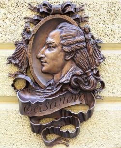 40385337 - bronze statue of casanova in lviv. ukraine