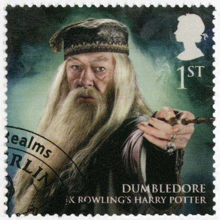 GREAT BRITAIN - 2011: shows portrait of Professor Dumbledore, se